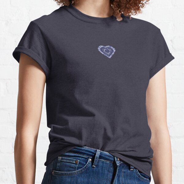 Indigo Batik Hearts Classic T-Shirt
