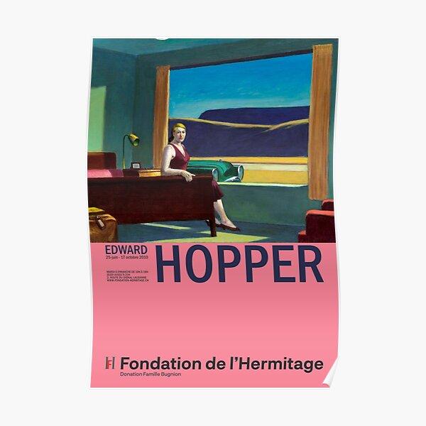 Edward Hopper - Western Motel - Minimalist Exhibition Art Poster Poster