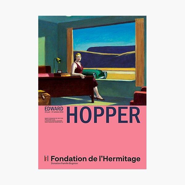 Edward Hopper - Western Motel - Minimalist Exhibition Art Poster Photographic Print