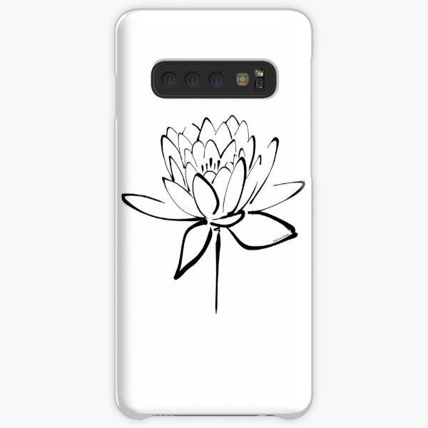 Lotus Flower Calligraphy (Black) Samsung Galaxy Snap Case