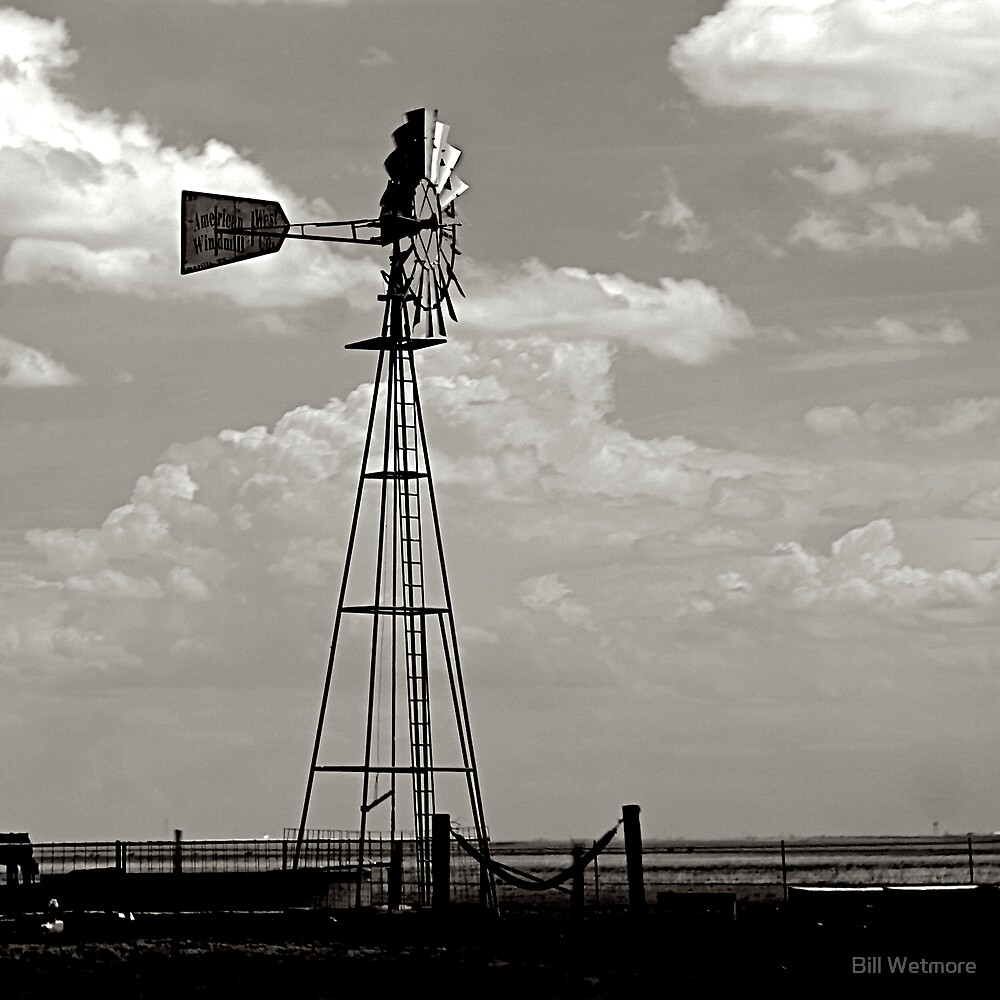 American West Windmill by Bill Wetmore
