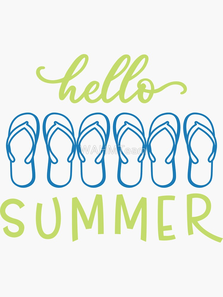 Hello Summer with Flip Flops by WAHMTeam