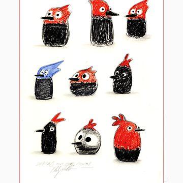 Woodpecker Doodles by philipvallentin