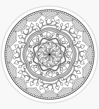 Leafy Mandala Sticker