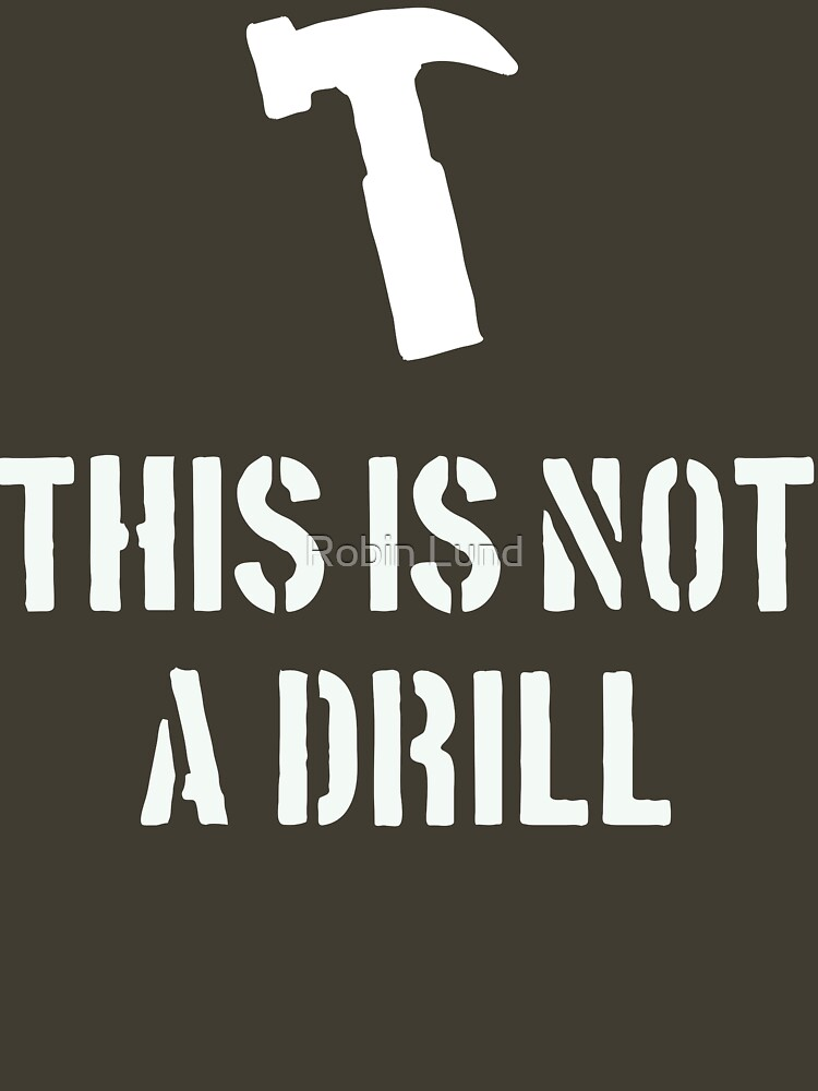 This is not a drill by kosmonaut