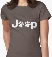Jeep Paws Womens Fitted T-Shirt