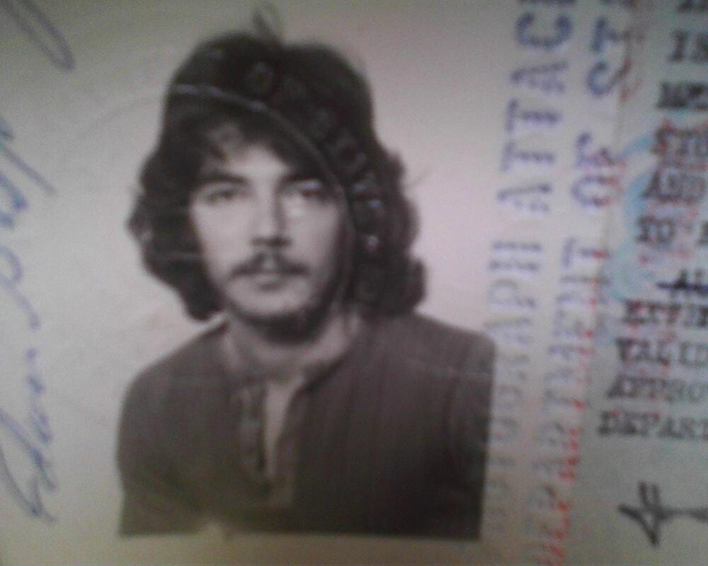 Me in 1974 while on the road with Blood Sweat and Tears by markhadafairday