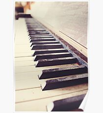 Vintage piano Poster