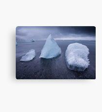 Mixed Icebergs Canvas Print