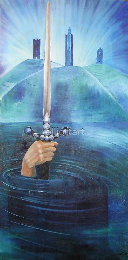 """""""Excalibur"""" an original painting by Julie-Anne Cook B.A. (Hons) by elliottart"""