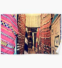 SHOP OF TYPICAL MOROCCAN CARPETS!!! Morocco   Poster