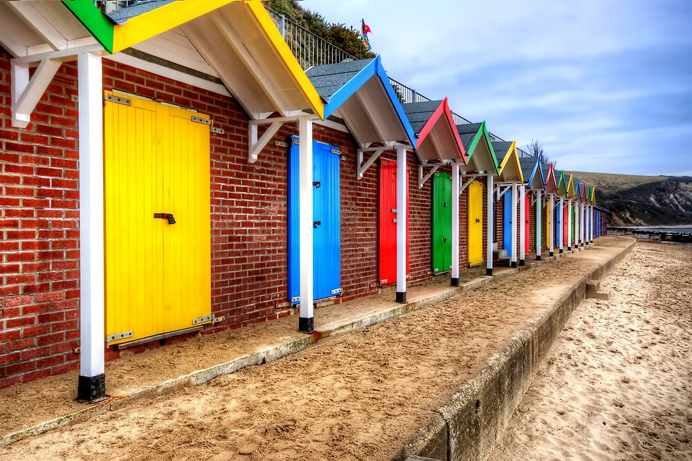 Swanage Beach Huts by Stephen Smith