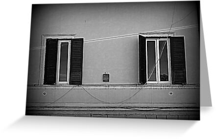 Two windows on the wall by orsinico