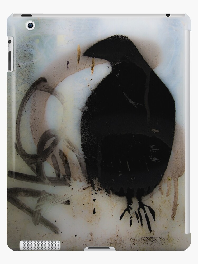 Graffiti crow on window by Steve Björklund