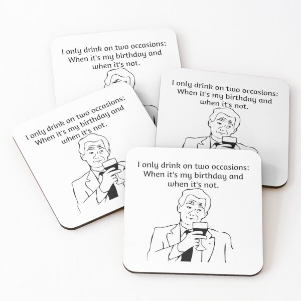 Drinking time Coasters (Set of 4)