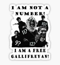 The Prisoner meets Dr Who, Numbers aren't everything Sticker