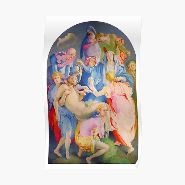 Deposition of Jesus Christ by Jacopo Pontormo, Religious Renaissance Painting Print Poster