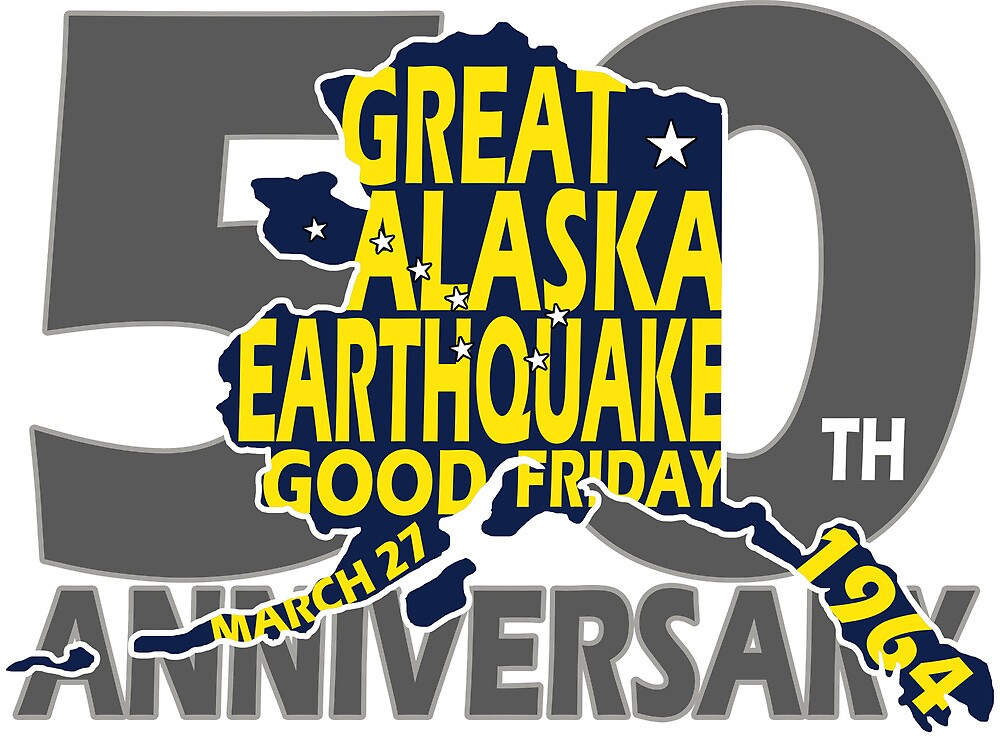 5OTH ANNIVERSARY GREAT ALASKA EARTHQUAKE W DIPPER by Ed Rosek