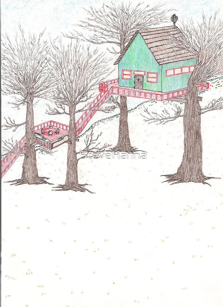 Snowy Treehouse1 by SteveHanna