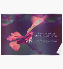 Nature as God Poster