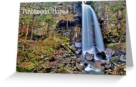 Cerdyn Penblwydd Rhaeadr Melincwrt  by Paula J James