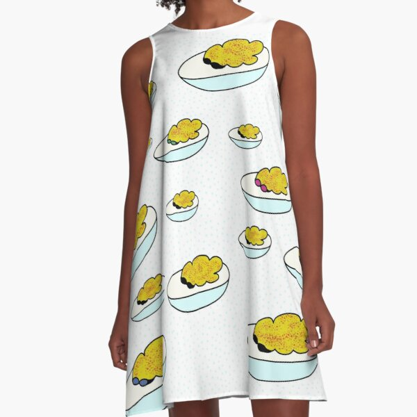 Parade of Devilled Eggs II A-Line Dress
