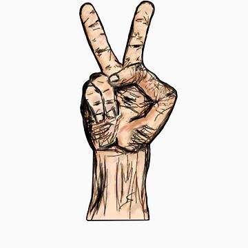 Peace hand by Fresherrrr