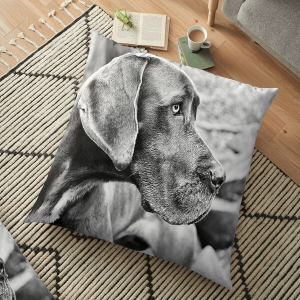 Blue Black Great Dane  Floor Pillow