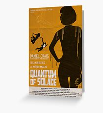 QUANTUM OF SOLACE Greeting Card