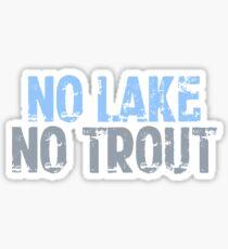 The Wire - No Lake, No Trout Sticker