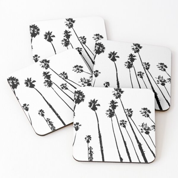 Palm Tree Silhouette Coasters (Set of 4)