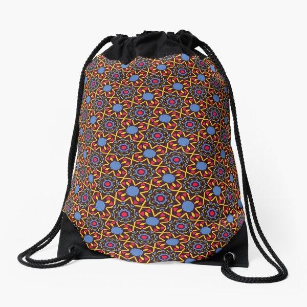 Star Grid Drawstring Bag