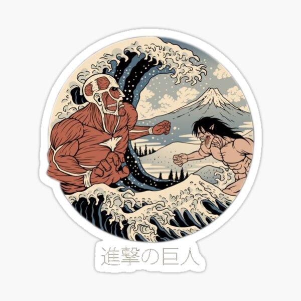 Attack on Titan - Kanagawa Wave Sticker