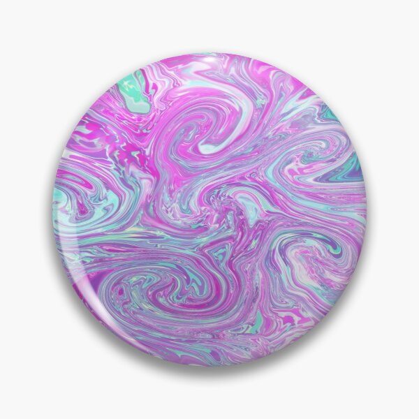 Trippy Psychedelic Flow Art Pin