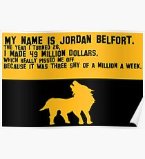 My Name is Jordan Belfont Poster