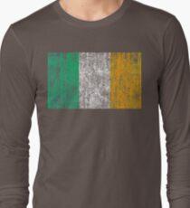 distressed irish flag Long Sleeve T-Shirt