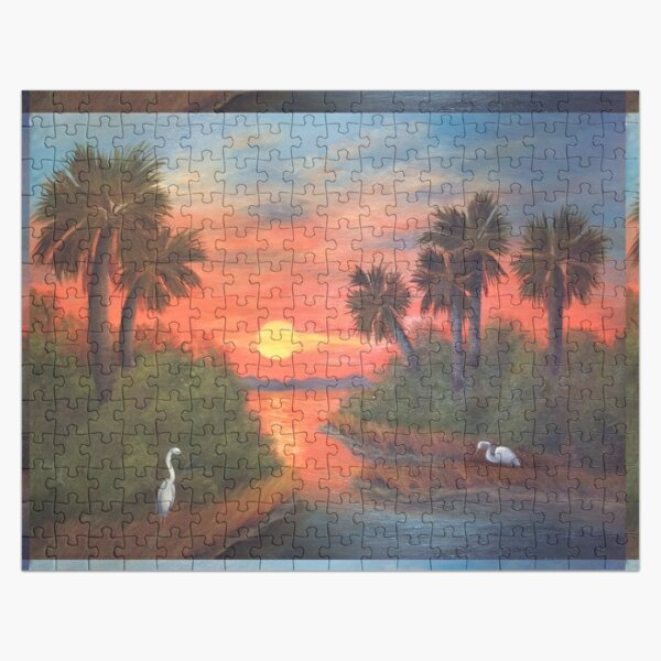 Low Country Sunset Jigsaw Puzzle