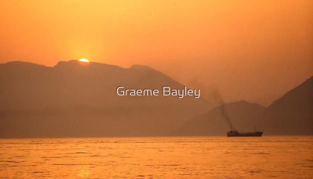 Greek Sun-Set III by Graeme Bayley