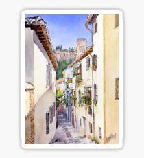 An Alley in the Albaicin, Granada Sticker
