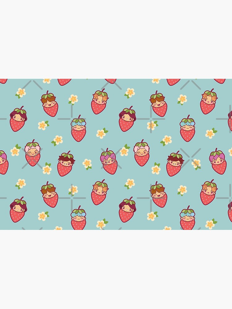 BTS Strawberry Patch ~Pouches & Pillows~   by MikaBees