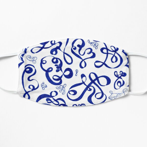 Squiggles Flat Mask