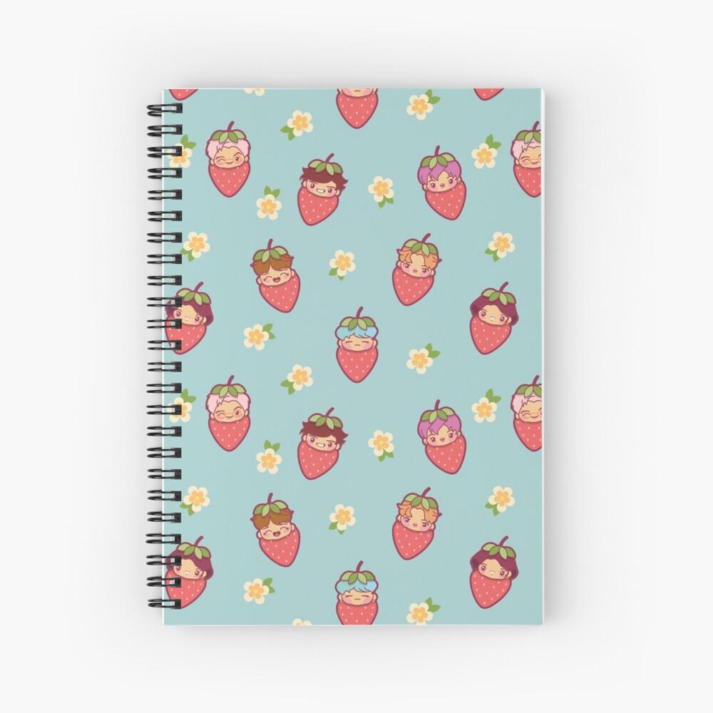 BTS Strawberry Patch ~Journals & Notebooks~   Spiral Notebook