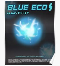 Blue Eco Poster