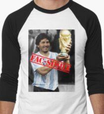 Maradona fac-simile Men's Baseball ¾ T-Shirt