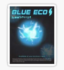 Blue Eco Sticker