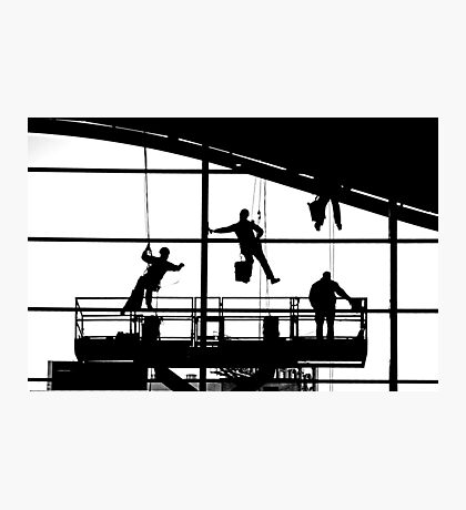 Marionette Window Washers Photographic Print