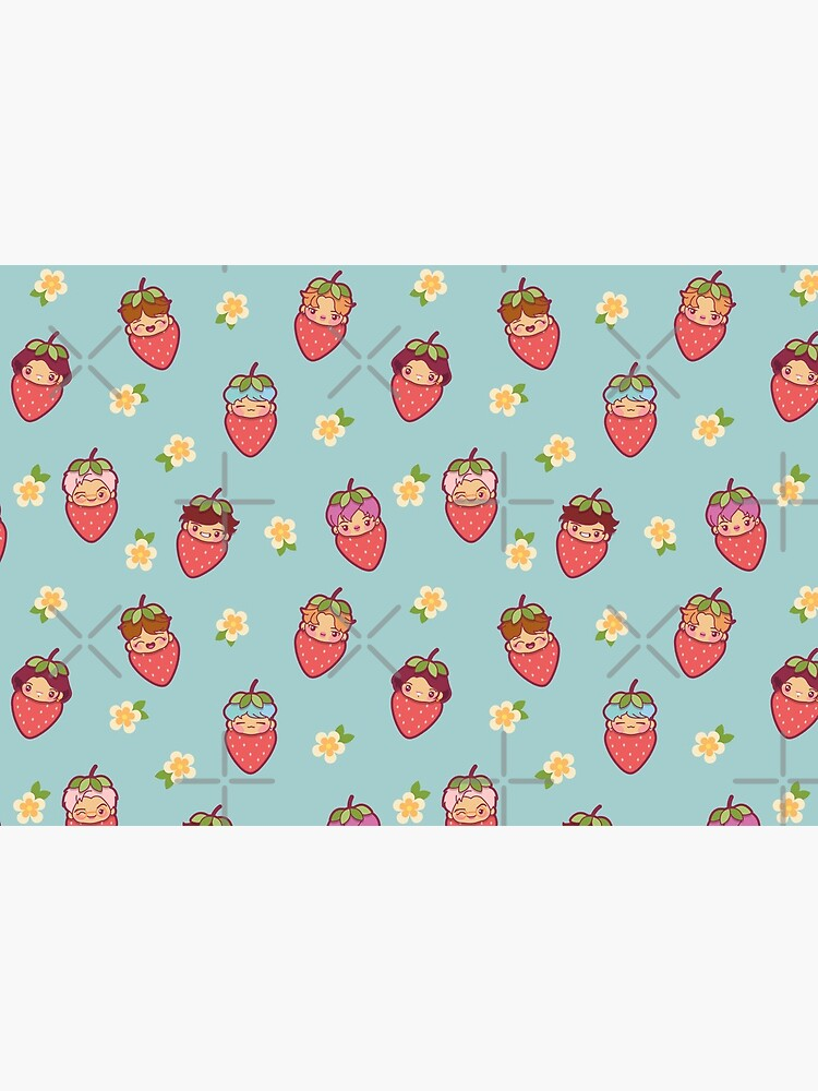BTS Strawberry Patch ~Masks~   by MikaBees