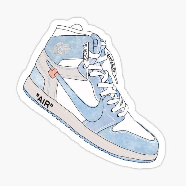 Baskets Nike Jordan x Offwhite Sticker