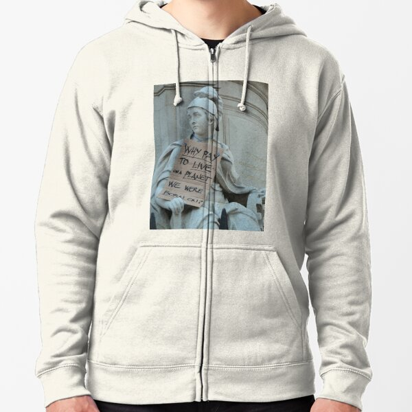 Philosophical Statues  Zipped Hoodie