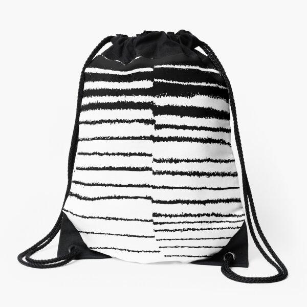 Las Lineas II  Drawstring Bag